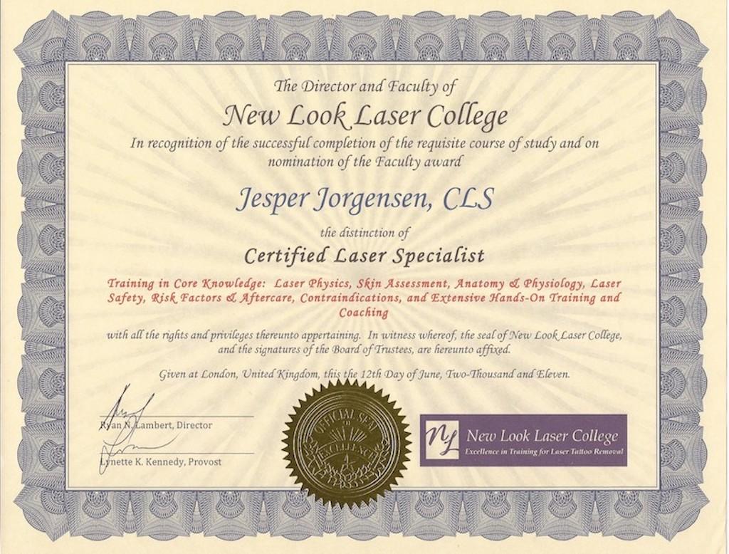 certifikat nr. 2